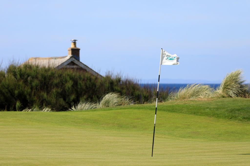An empty golf course