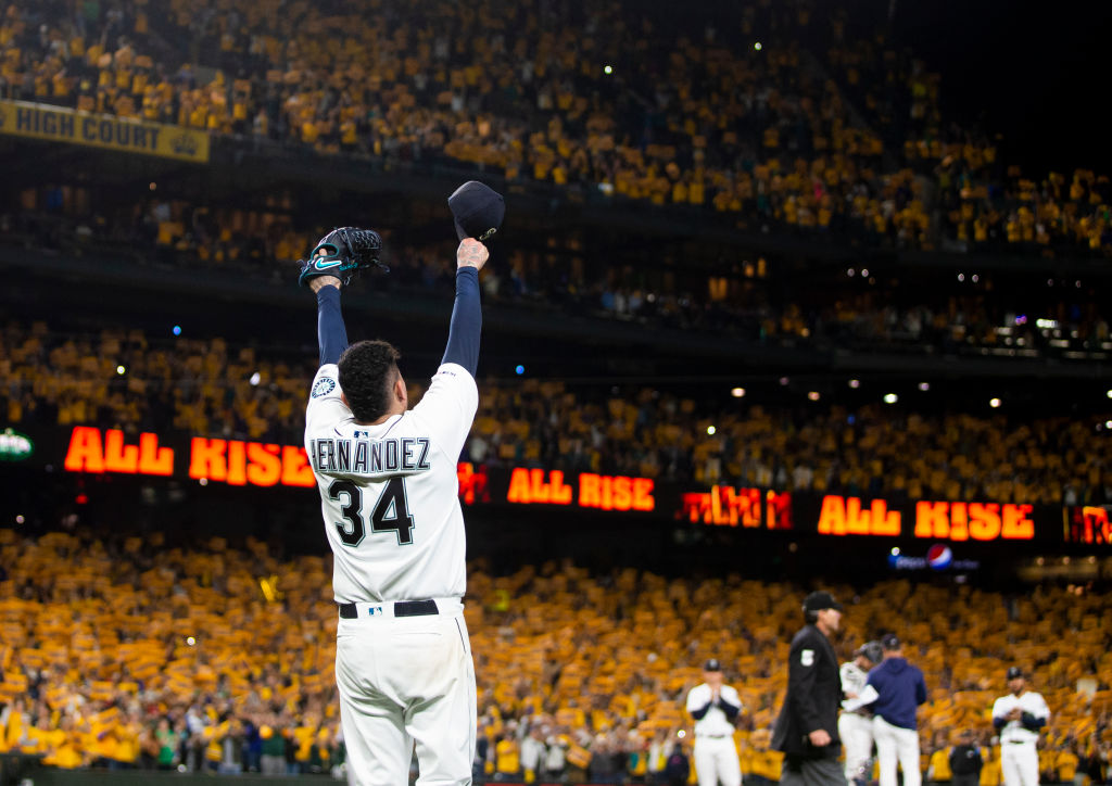 Cy Young Award winning pitcher Felix Hernandez says good bye to the Seattle Mariners