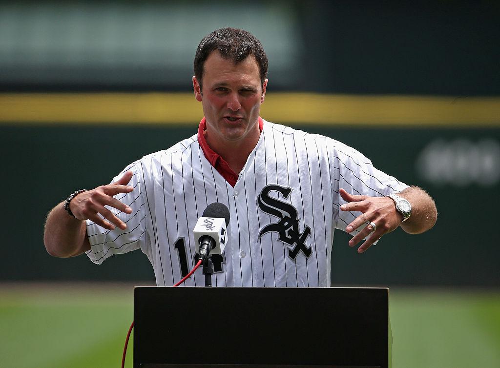 Former player Paul Konerko of the Chicago White Sox