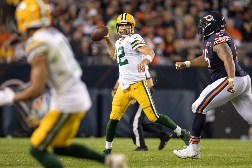 Aaron Rodgers passed for one touchdown as the Packers defeated the Bears 10-3 in the NFL season opener on Sept. 5, 2019.