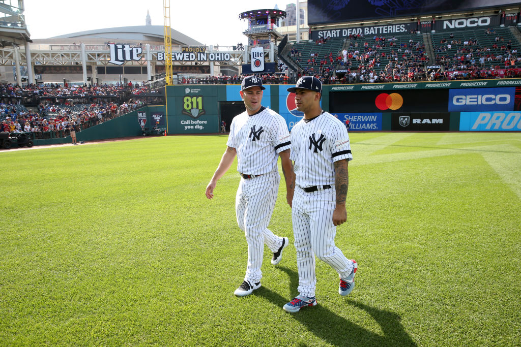 90th MLB All-Star Game Gary Sanchez #24 and Gleyber Torres #25 of the New York Yankees