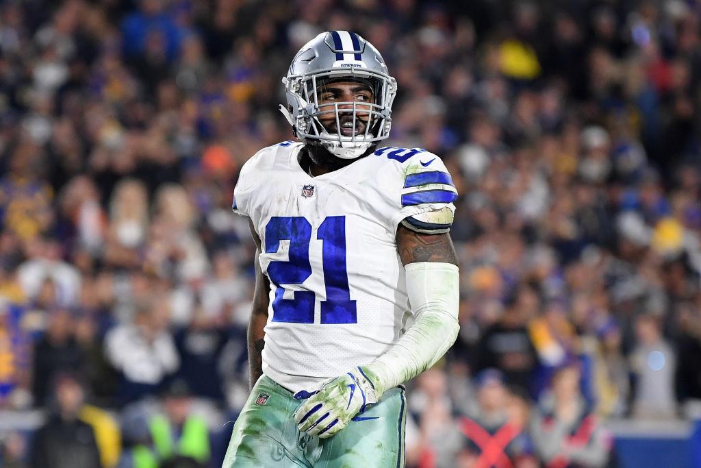 Ezekiel Elliott #21 of the Dallas Cowboys