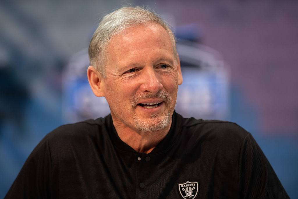 Mike Mayock enjoying a laugh during more simple times