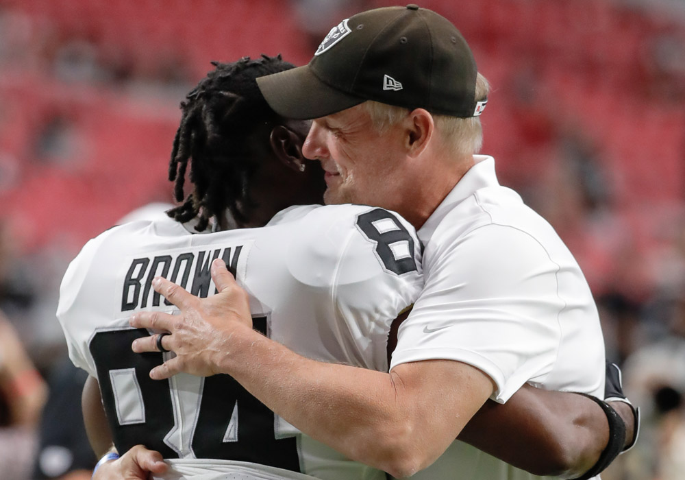 There probably aren't going to be too many more hugs between Antonio Brown and Mike Mayock