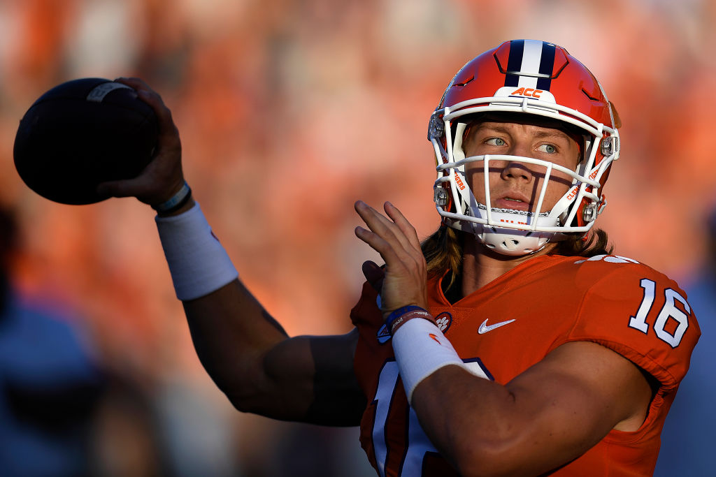 Trevor Lawrence and the Clemson Tigers might have something to say about Hocker's guarantee
