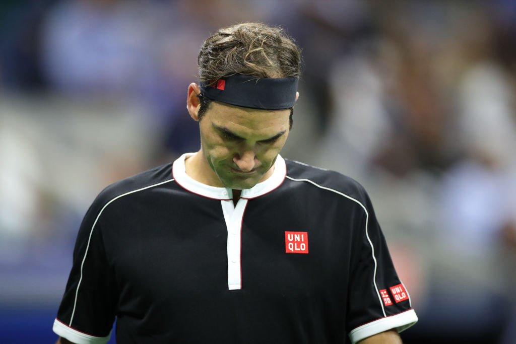 Roger Federer is disappointed after his shocking loss