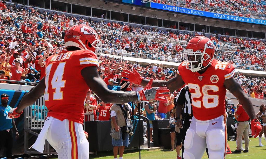 Sammy Watkins celebrates after a touchdown