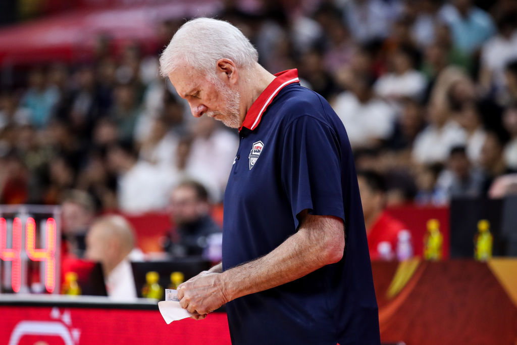 Gregg Popovich coach of USA in action