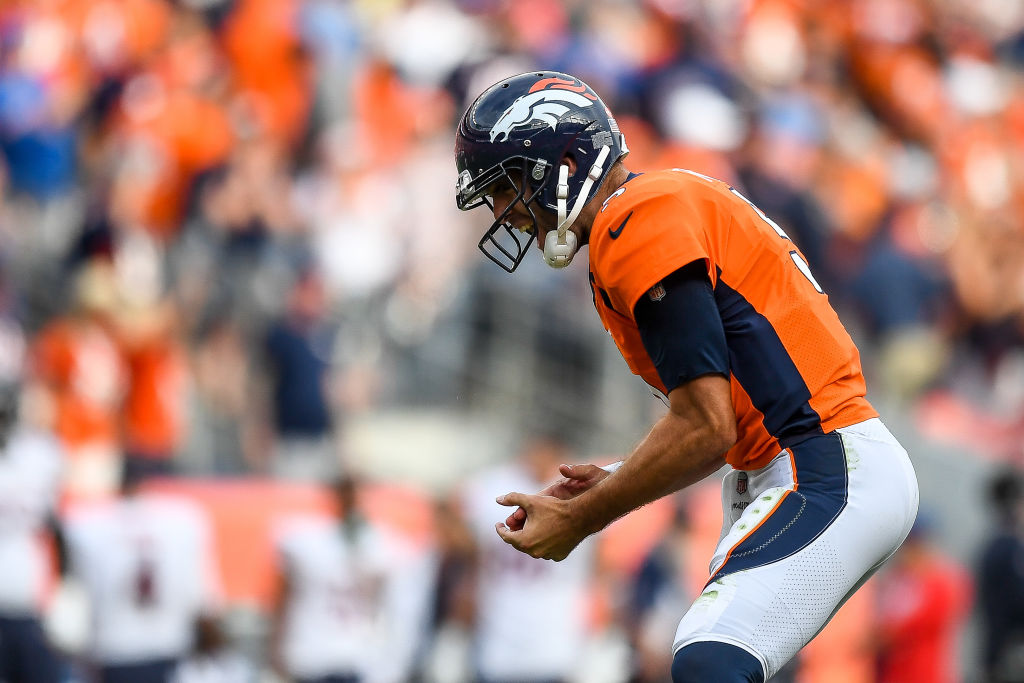 Joe Flacco was fired up after a late fourth-quarter touchdown, but the Broncos still lost the game