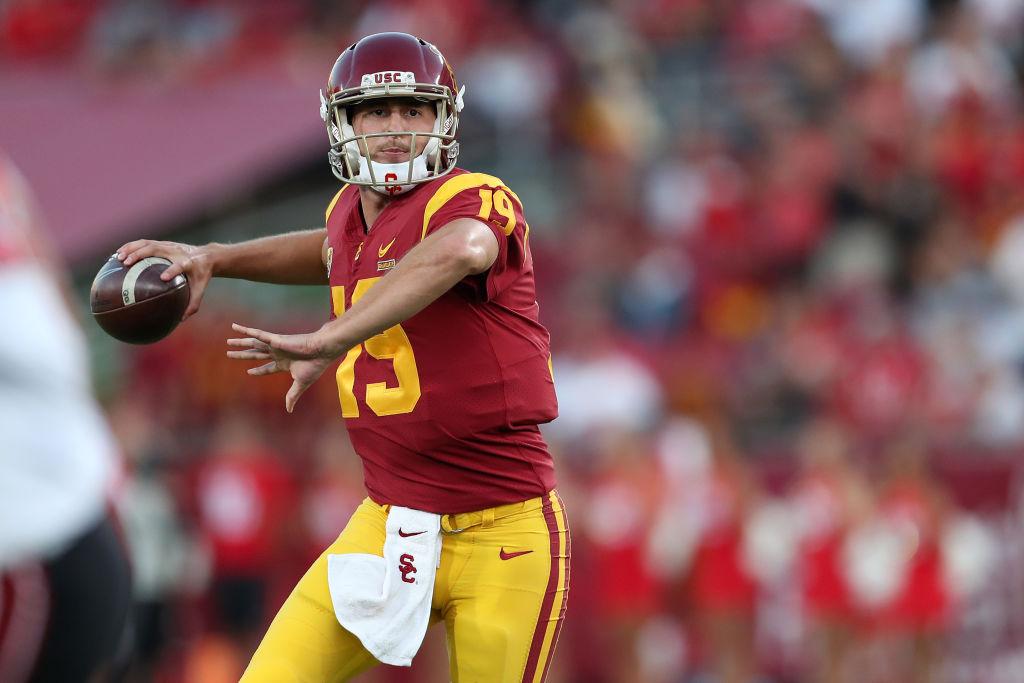 Matt Fink winds up to throw down the field