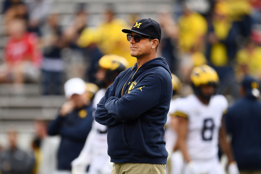 Jim Harbaugh had no answers against the Wisconsin Badgers