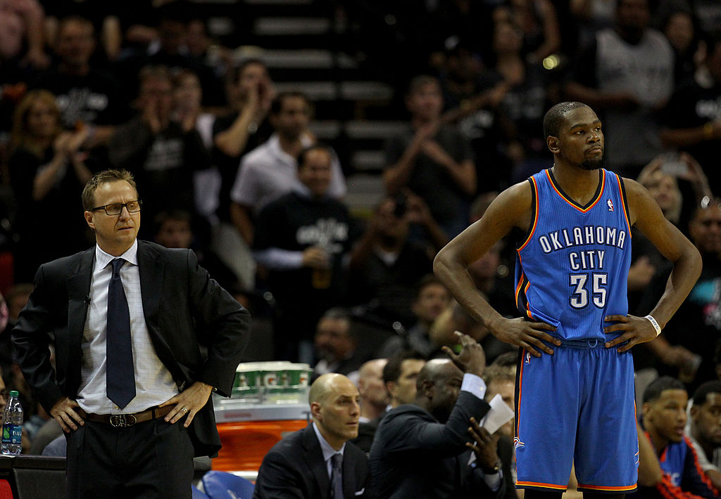 Durant's relationship with the Oklahoma City Thunder is estranged