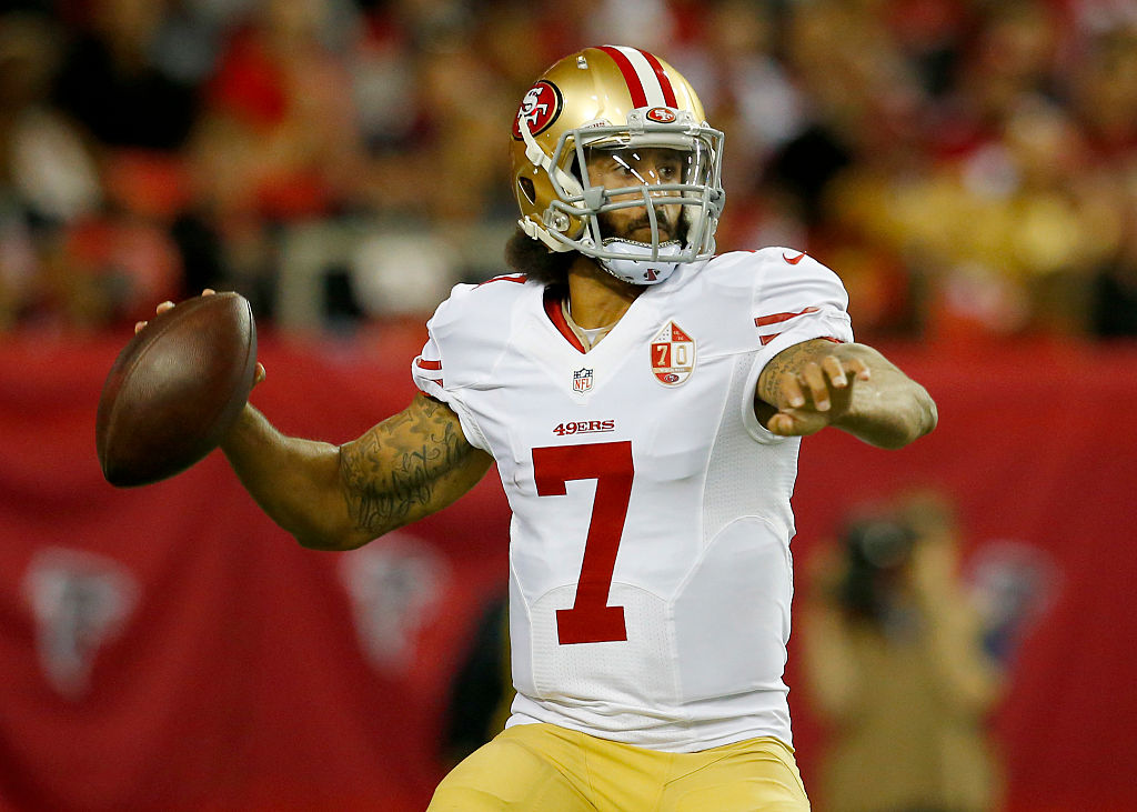 Colin Kaepernick in action with the San Francisco 49ers