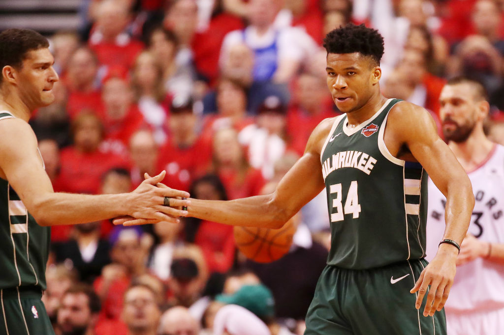 Bucks forward Giannis Antetokounmpo