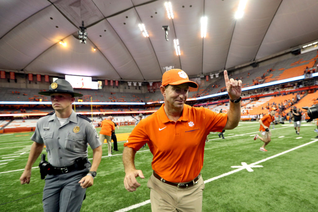 Dabo Swinney of the Clemson Tigers