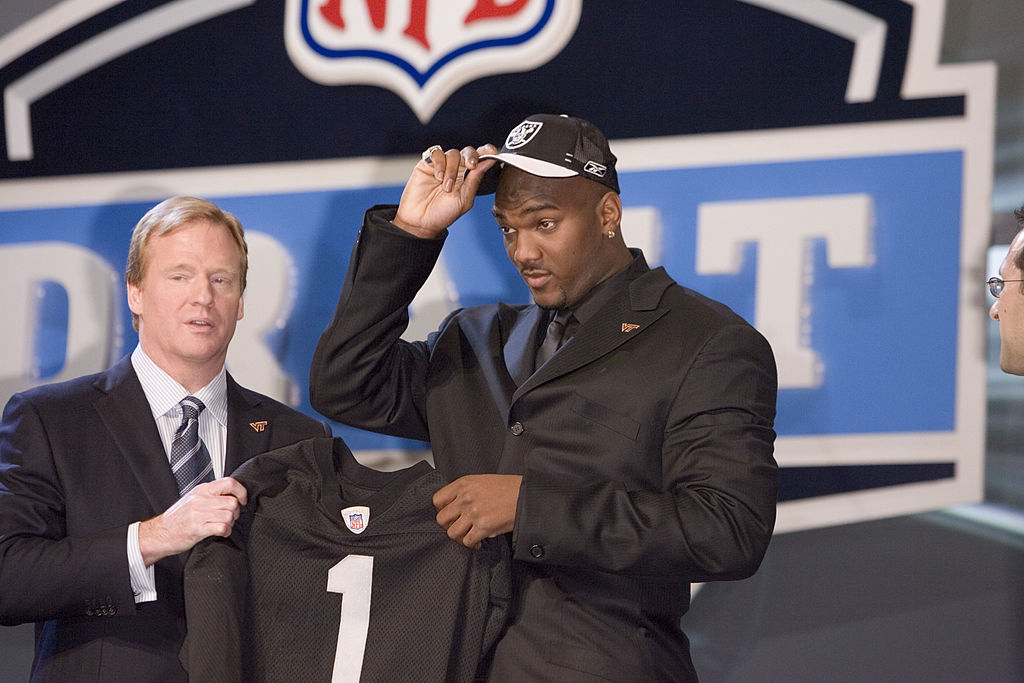JaMarcus Russell at the NFL Draft