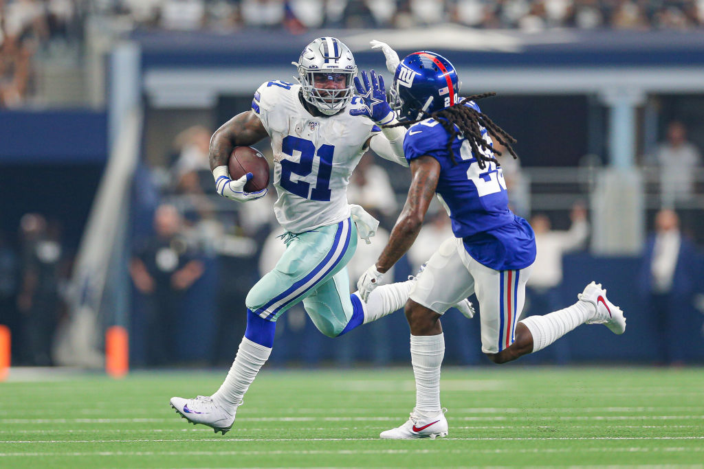 Cowboys owner Jerry Jones might regret giving Ezekiel Elliott (left) a big-money contract when the bill comes due.