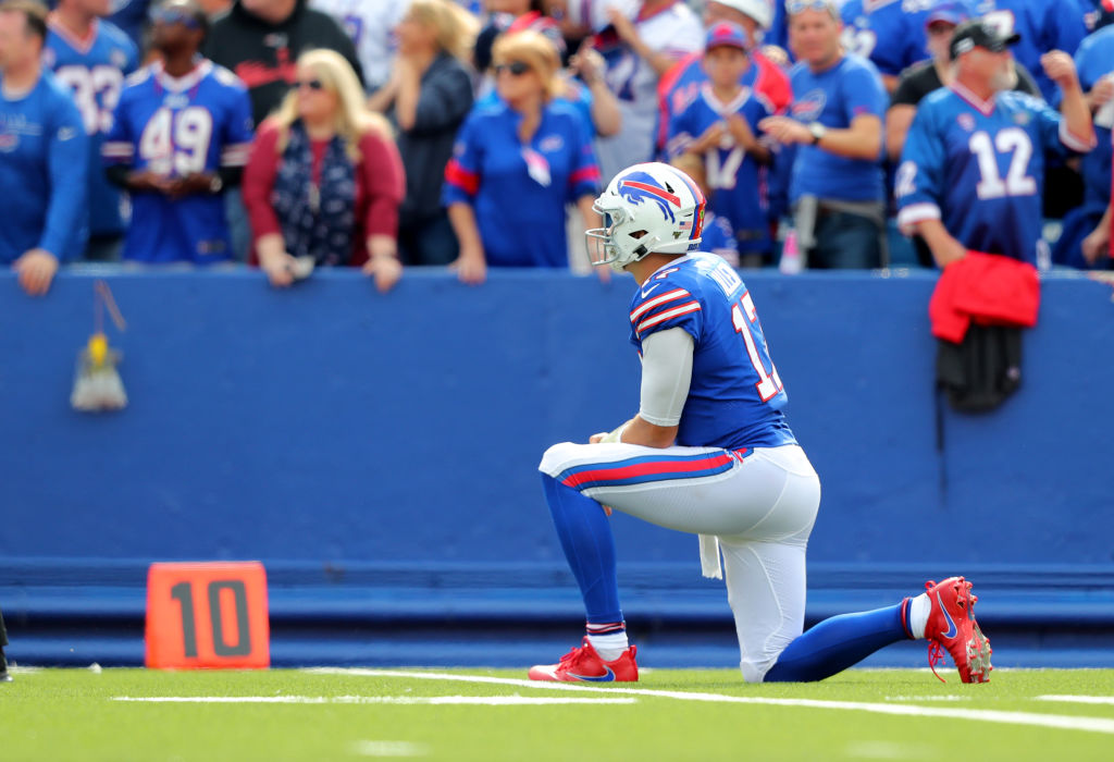 Josh Allen #17 of the Buffalo Bills