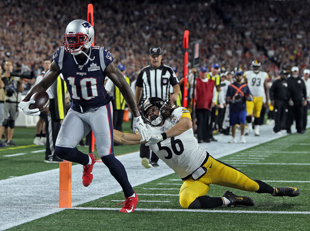 Josh Gordon (No. 10) is one of several talented players on the Patriots' offense.