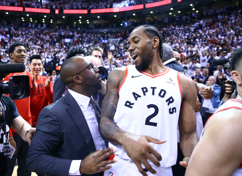 Jeremy Castelberry (left) and Kawhi Leonard are close friends.