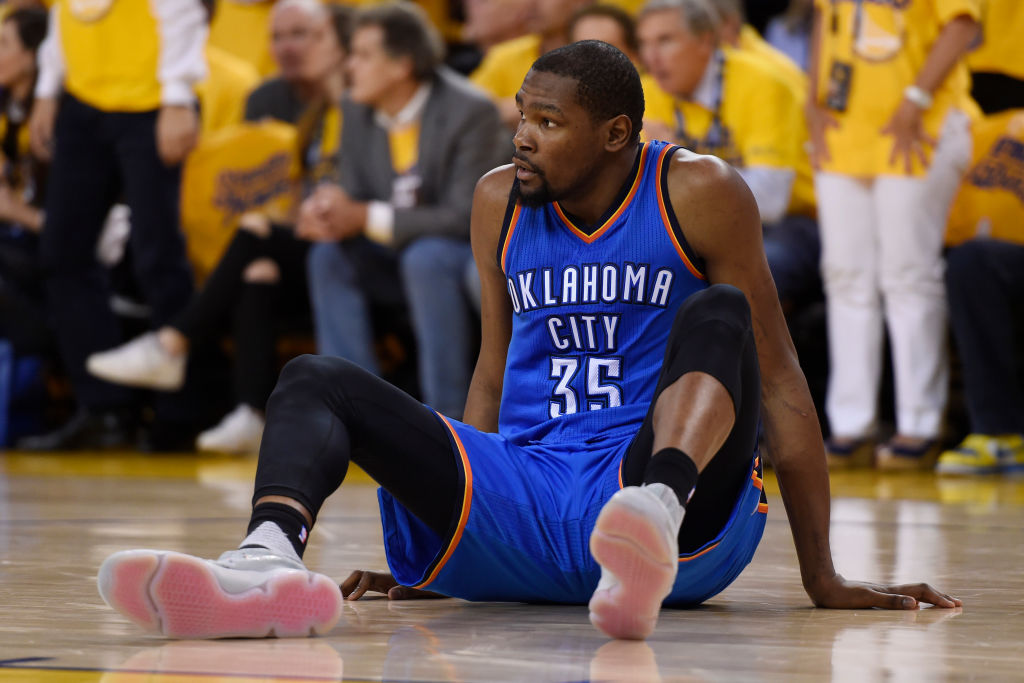Kevin Durant started his NBA career with the Thunder (and Sonics), but he probably won't ever go back to the franchise.