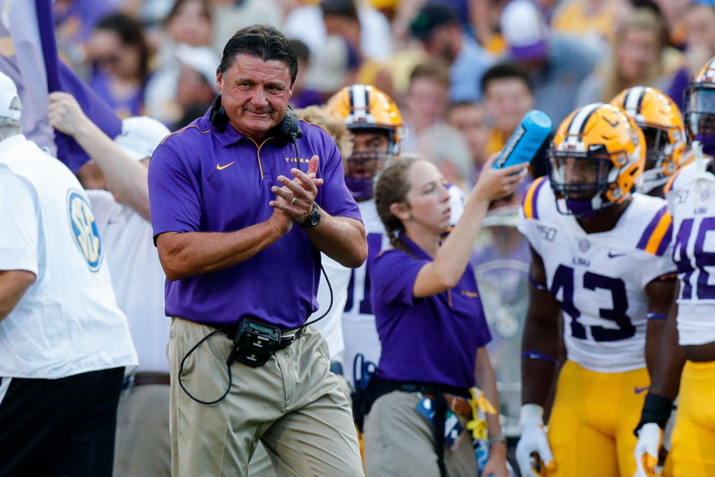 LSU might be legitimate and perennial College Football Playoff contenders with Ed Orgeron leading the way.