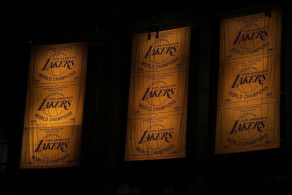 Lakers' NBA Championship banners