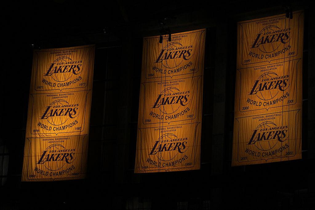 Lakers' NBA Championship banners