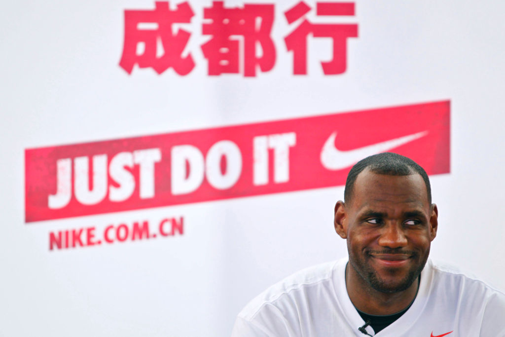 LeBron James picked Nike over Reebok when he entered the NBA, and it could turn into a $1 billion payday.