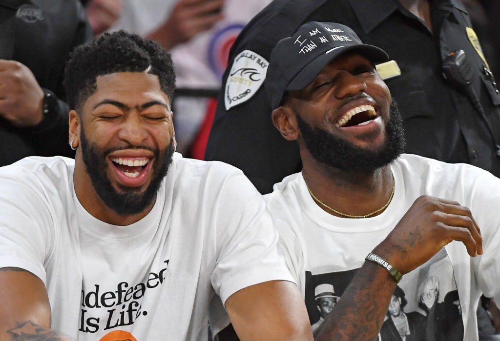 Anthony Davis and LeBron James hope the good times roll on the court as well