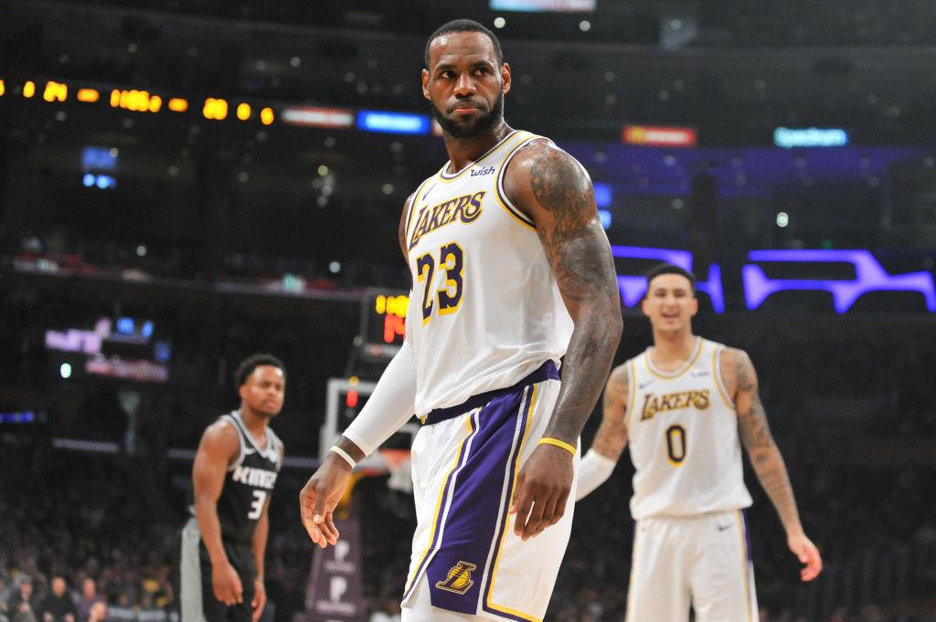 Lakers forward LeBron James