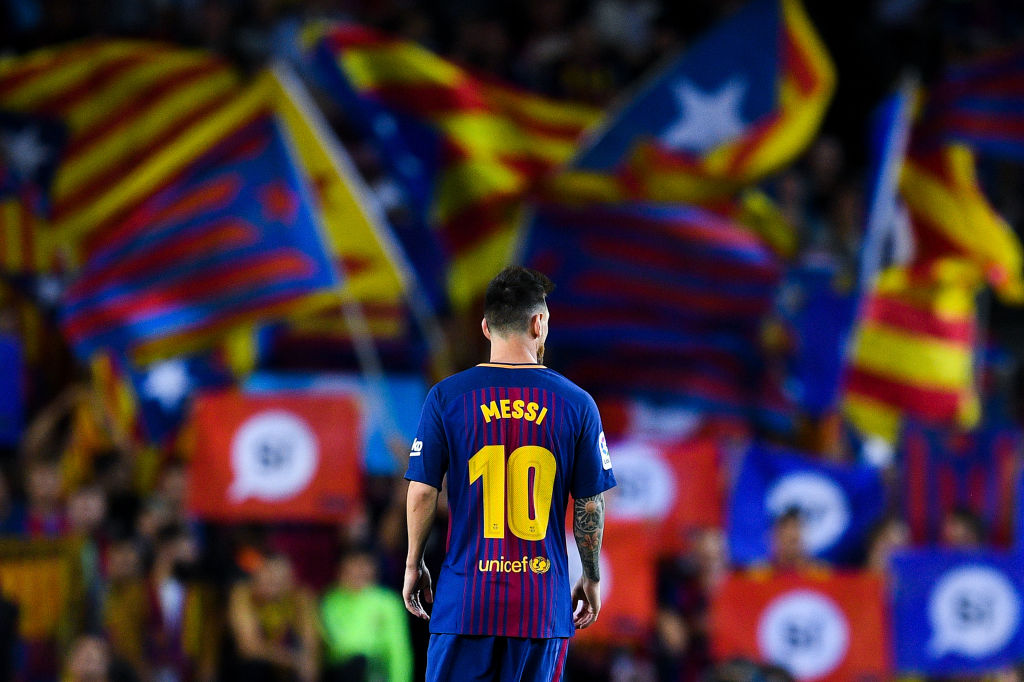 Lionel Messi in his FC Barcelona uniform