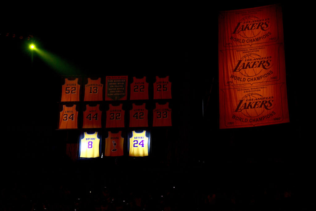 Los Angeles Lakers retired jersey
