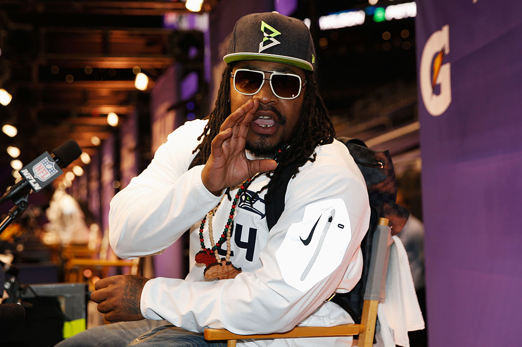 Super Bowl XLIX Media Day - Marshawn Lynch