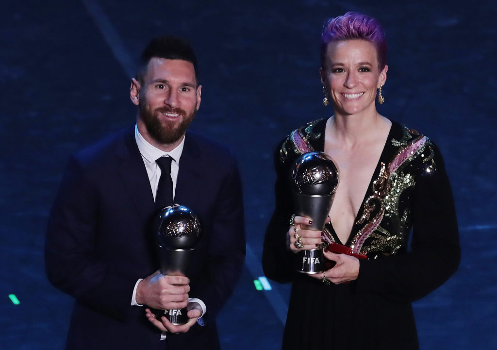 Barcelona's Lionel Messi was named the best men's soccer player in the world.