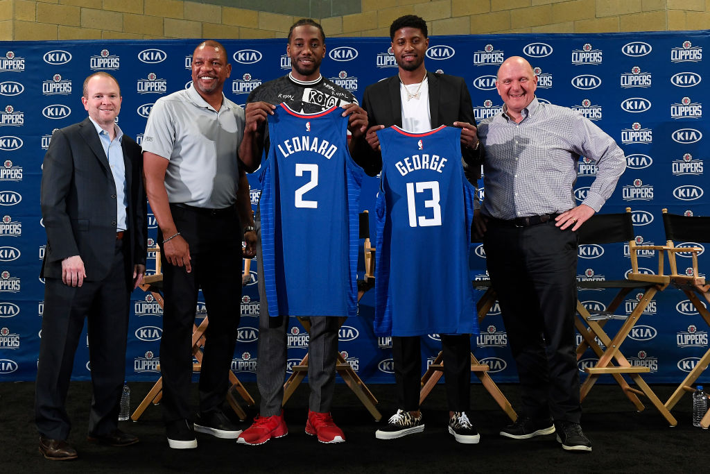 Clippers' forwards Kawhi Leonard and Paul George