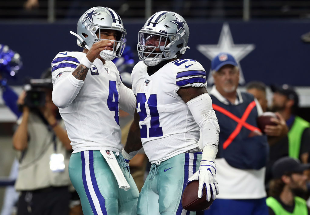 Dak Prescott (left) and Ezekiel Elliott had little trouble getting past the Giants in the first game of the 2019 NFL season.
