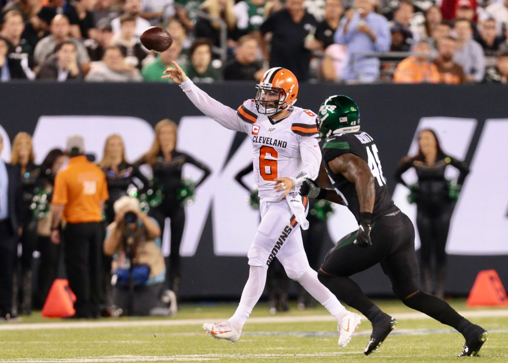 Baker Mayfield, Odell Beckham Jr., and the Cleveland Browns cruised pas the host New York Jets on Sept. 16, 2019.