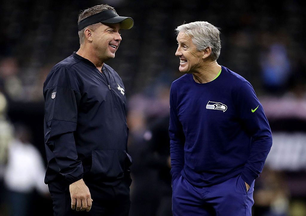The Seahawks and coach Pete Carroll (right) host Sean Payton and the Saints in one of the marquee games in Week 3 of the 2019 NFL season.