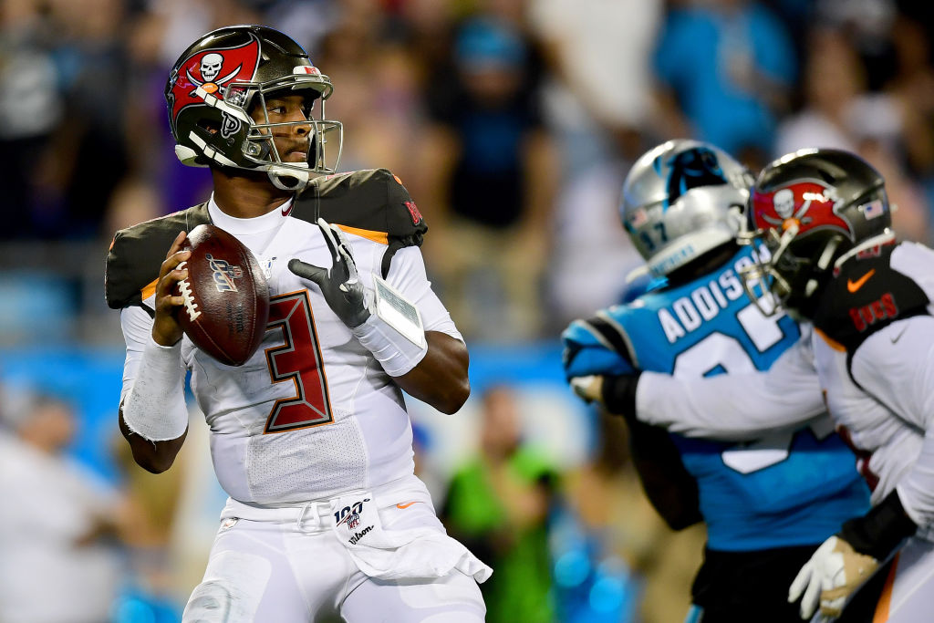 Jameis Winston helped lead the Tampa Bay Buccaneers past the Carolina Panthers in Week 2 of the NFL season.