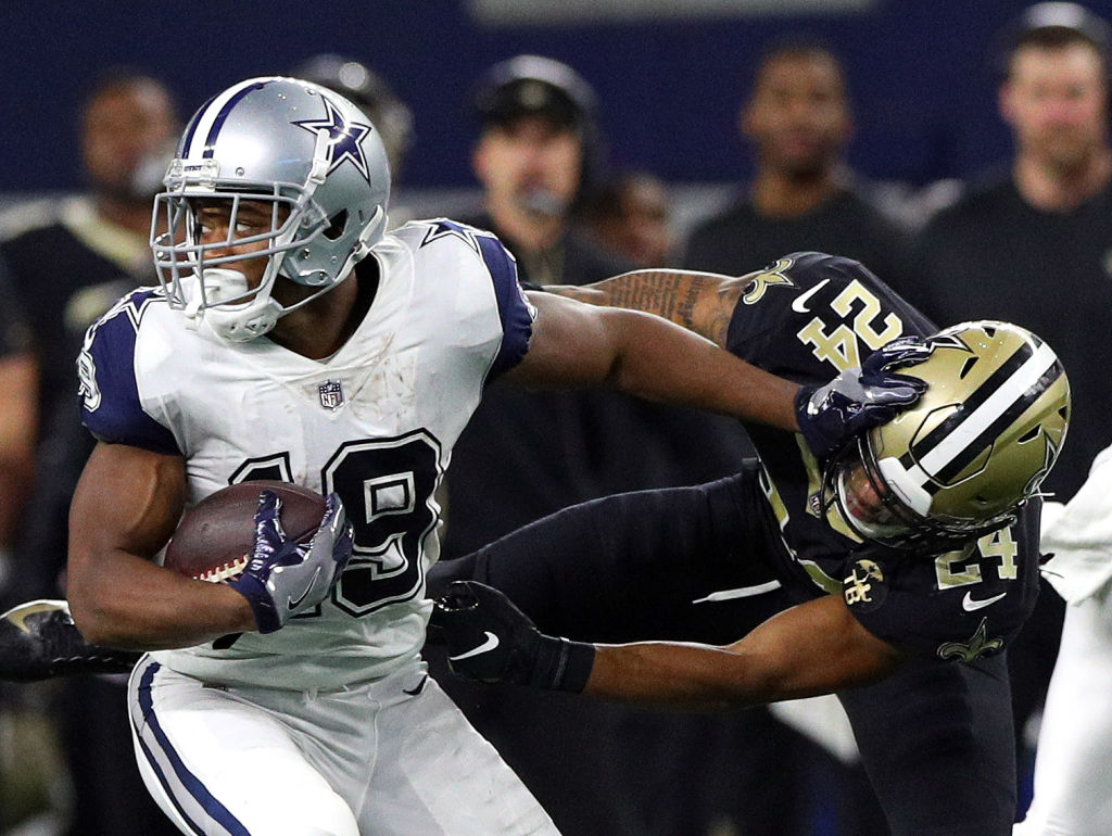 Amari Cooper (left) and the Cowboys face the Saints in one of the marquee matchups in Week 4 of the 2019 NFL season.