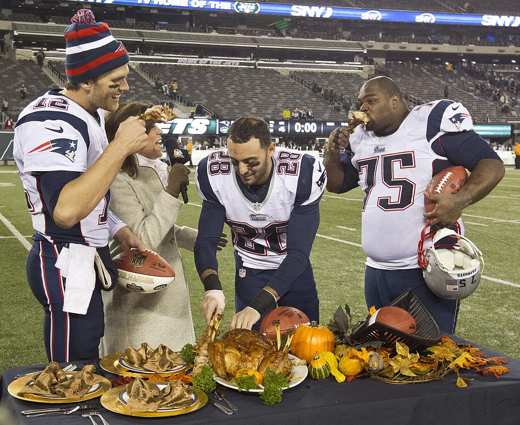 Tom Brady eating