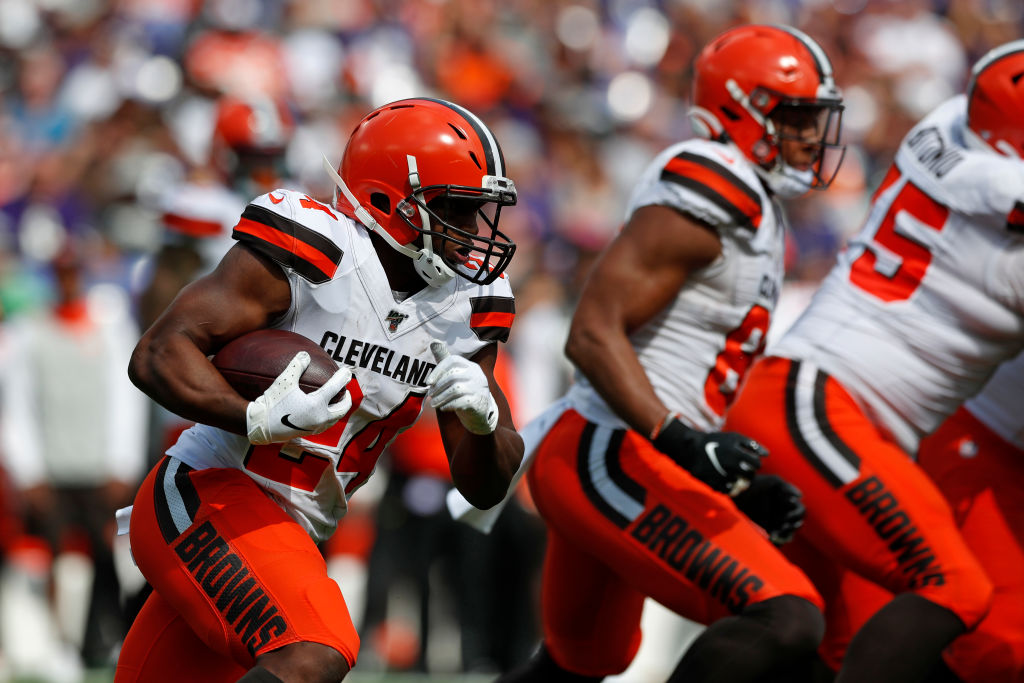 Running Back Nick Chubb #24 of the Cleveland Browns