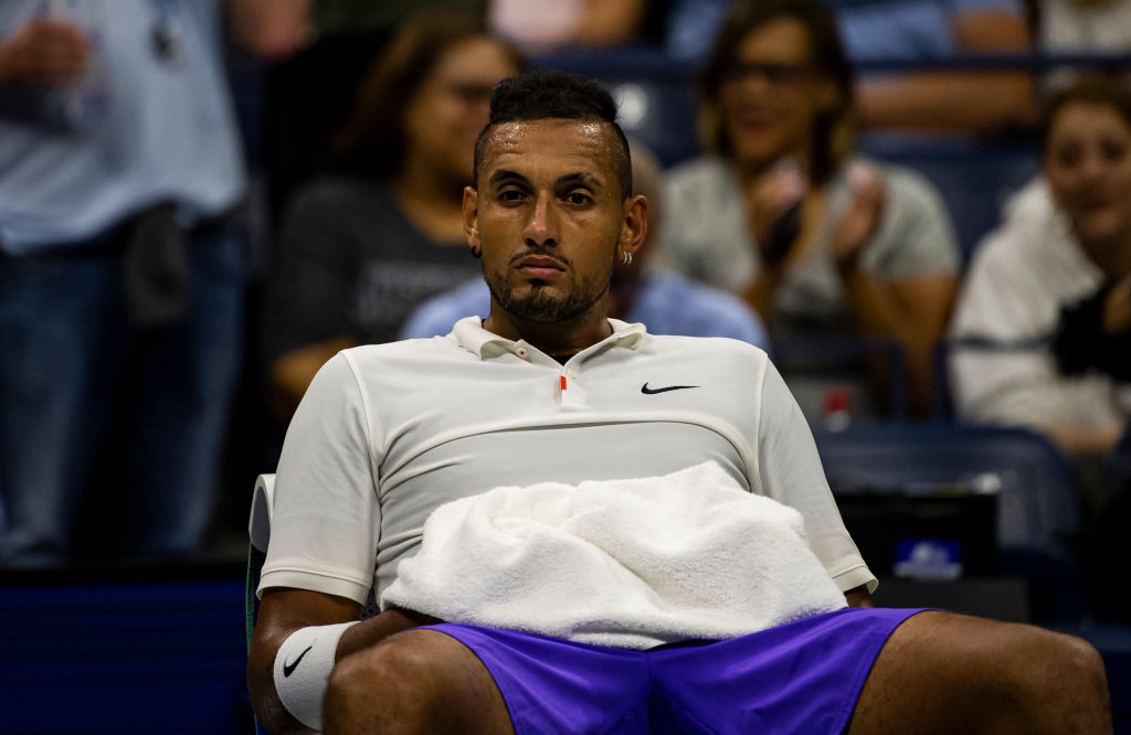 Tennis player Nick Kyrgios of Australia
