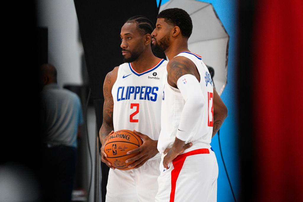 Clippers forwards Kawhi Leonard and Paul George