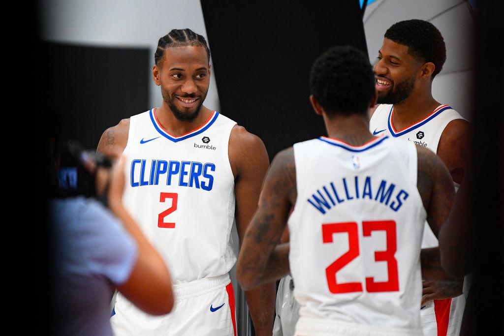 Clippers forward Kawhi Leonard and Paul Geoge