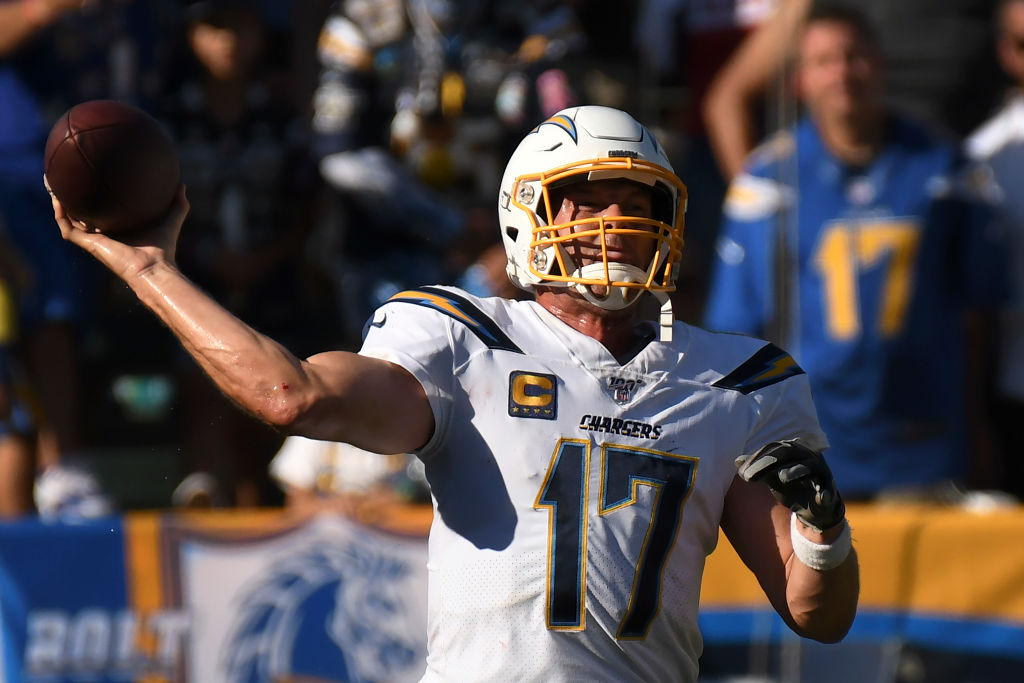 Quarterback Philip Rivers #17 of the Los Angeles Chargers