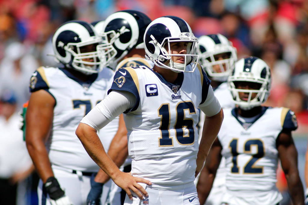 Rams quarterback Jared Goff