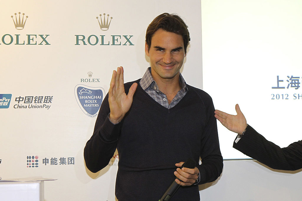 Roger Federer Rolex endorsement