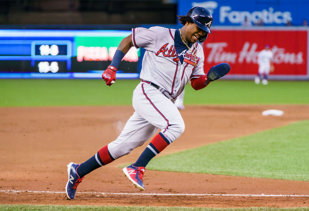 The Braves' Ronald Acuna can make a very elite list of baseball greats in 2019 if he hits 40 home runs and steals 40 bases.